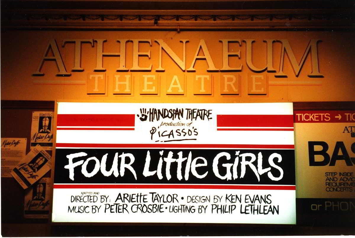 Four Little Girls Athenaeum Theatre billboard Melbourne